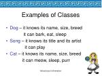 examples of classes