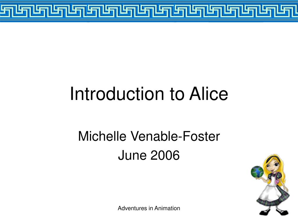 introduction to alice l.
