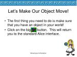 let s make our object move