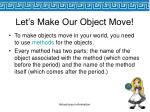 let s make our object move36