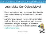let s make our object move39