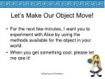 let s make our object move44