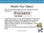 modify your object