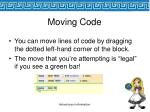 moving code