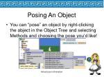 posing an object