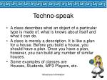 techno speak