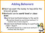 adding behaviors