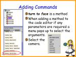 adding commands