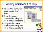 adding commands to hop