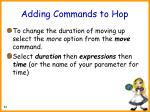 adding commands to hop50