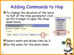 adding commands to hop51