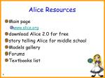 alice resources