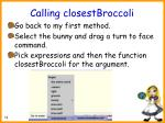 calling closestbroccoli