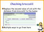 checking broccoli175