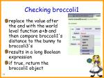checking broccoli177