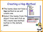 creating a hop method