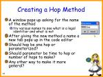 creating a hop method46