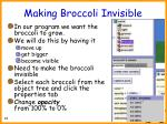 making broccoli invisible