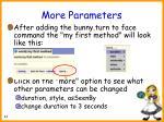 more parameters