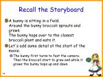 recall the storyboard