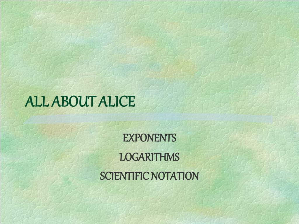 all about alice l.