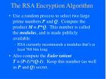 the rsa encryption algorithm
