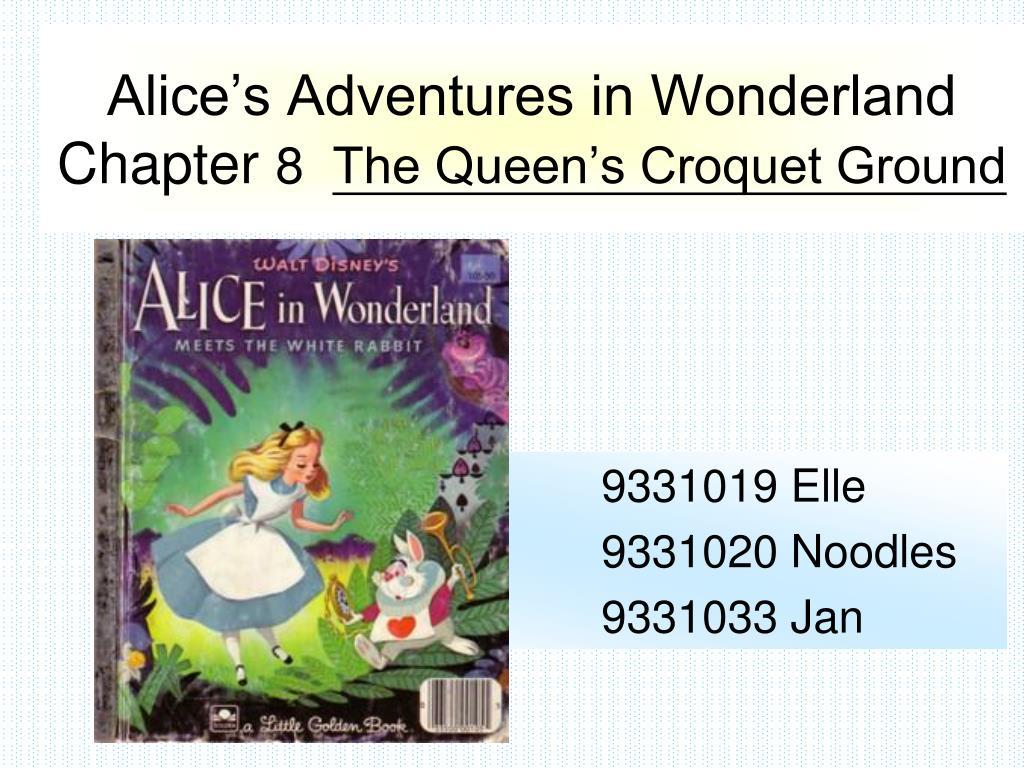 alice s adventures in wonderland chapter 8 the queen s croquet ground l.