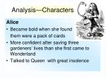 analysis characters