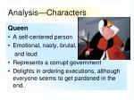 analysis characters3