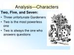 analysis characters6