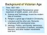 background of victorian age