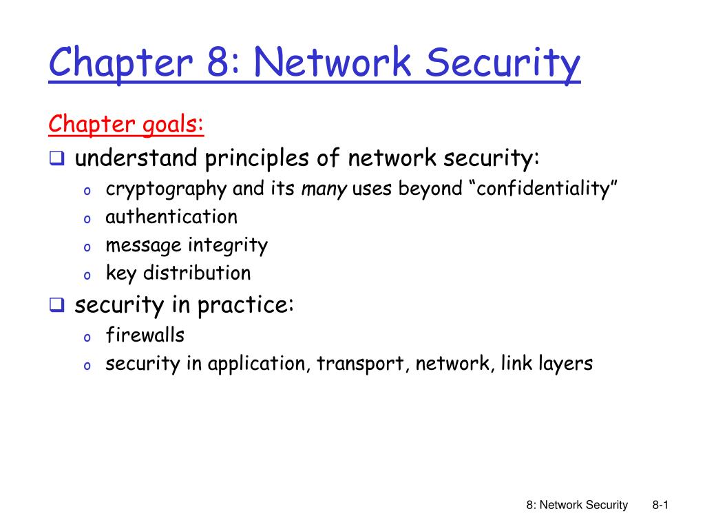 chapter 8 network security l.