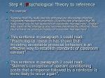 step 4 p sychological theory to reference20
