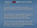 step 6 re state your thesis25