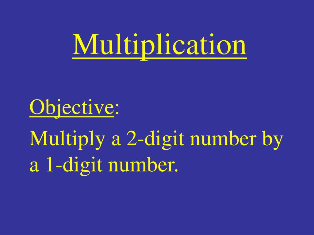 multiplication l.