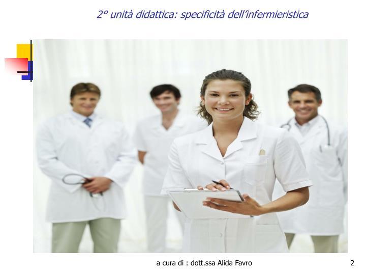 2 unit didattica specificit dell infermieristica