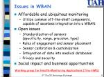 issues in wban