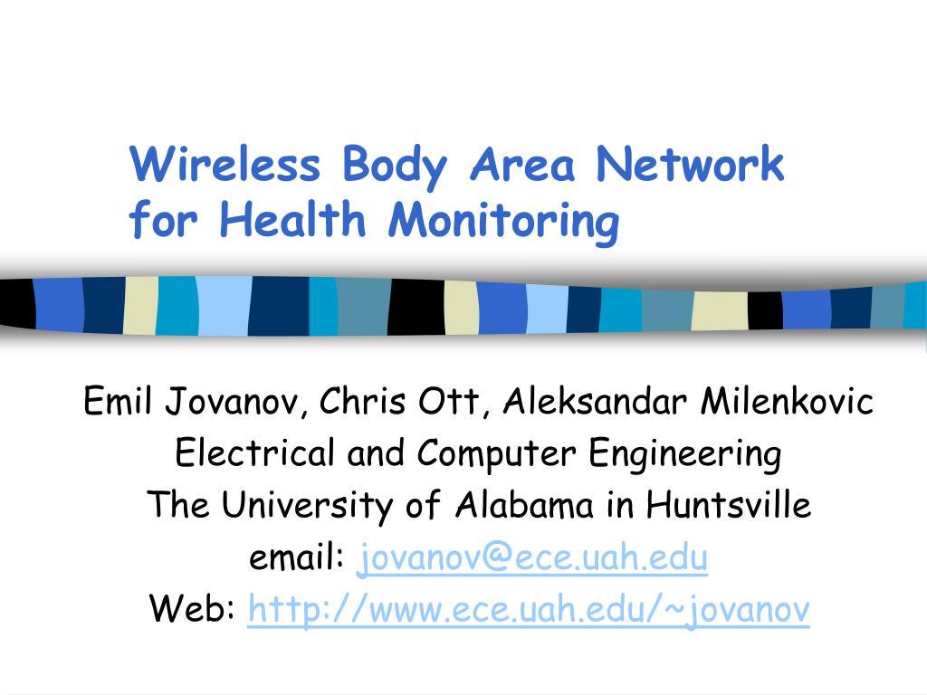 wireless body area network for health monitoring l.