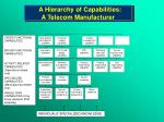 a hierarchy of capabilities a telecom manufacturer