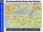 blue stream south stream gas pipelines