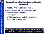 europe s future gas supplies a problematic landscape