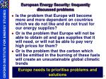 european energy security frequently discussed problems