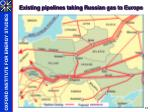 existing pipelines taking russian gas to europe