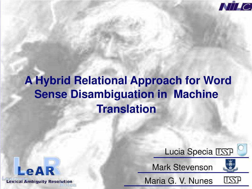 a hybrid relational approach for word sense disambiguation in machine translation l.