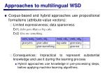 approaches to multilingual wsd6