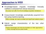 approaches to wsd