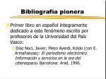 bibliograf a pionera