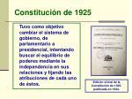 constituci n de 1925