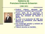 gobierno de francisco err zuriz echaurren 1896 1901