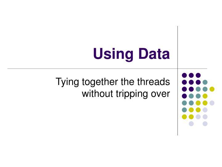 using data n.